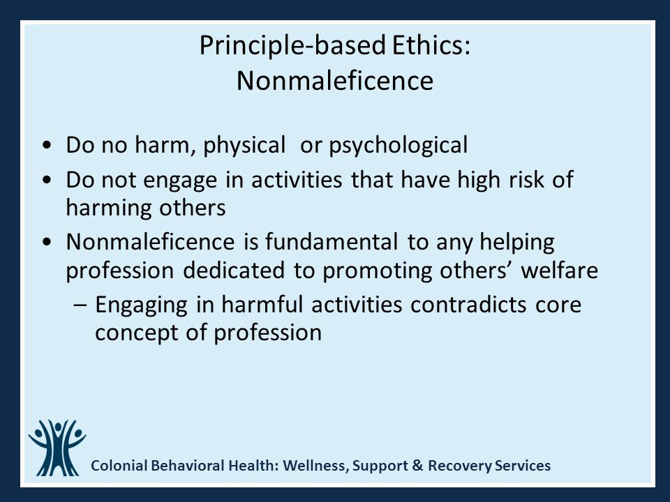 Principle-based Ethics: Nonmaleficence