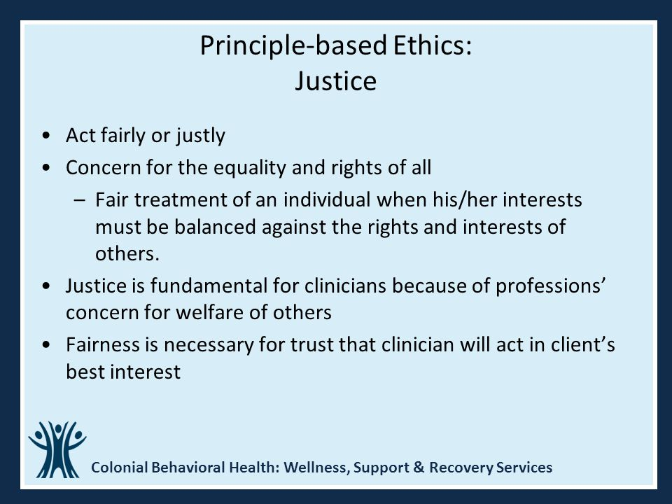 Principle-based Ethics: Justice
