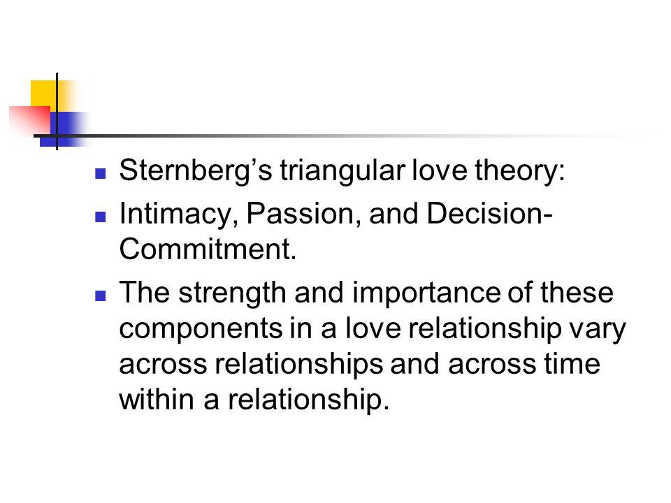 Sternberg's triangular love theory: