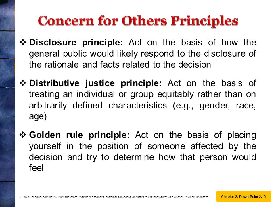 Concern for Others Principles