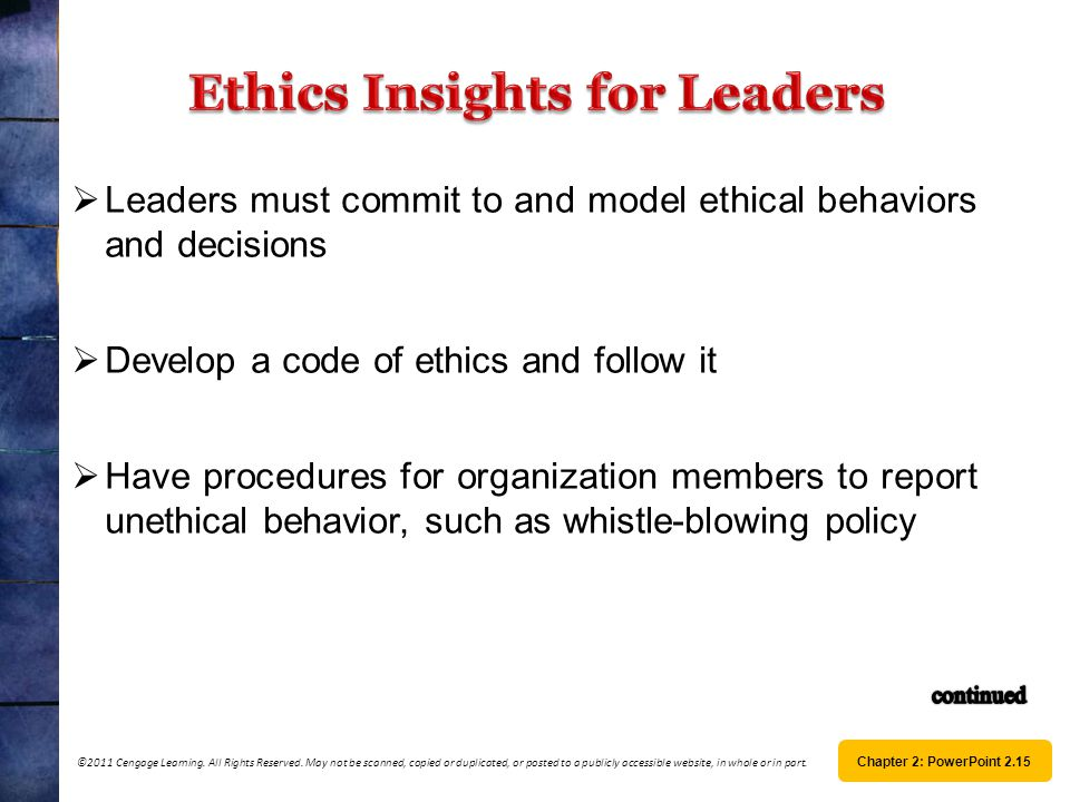 Ethics Insights for Leaders