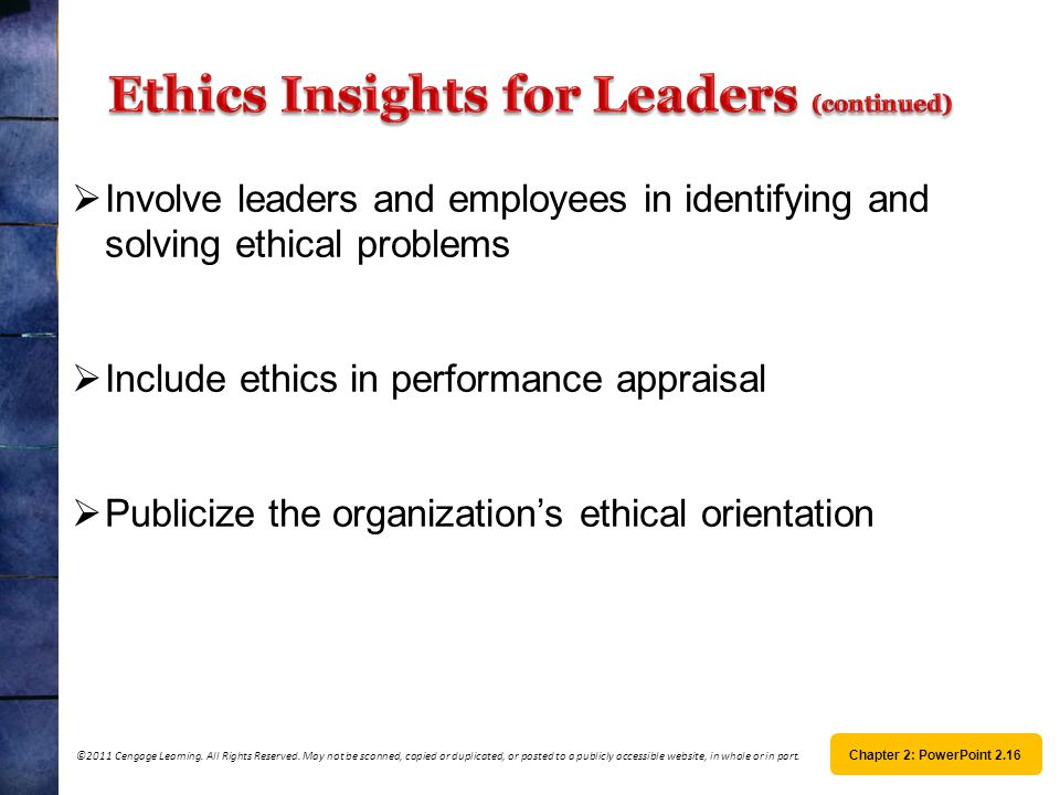 Ethics Insights for Leaders (continued)