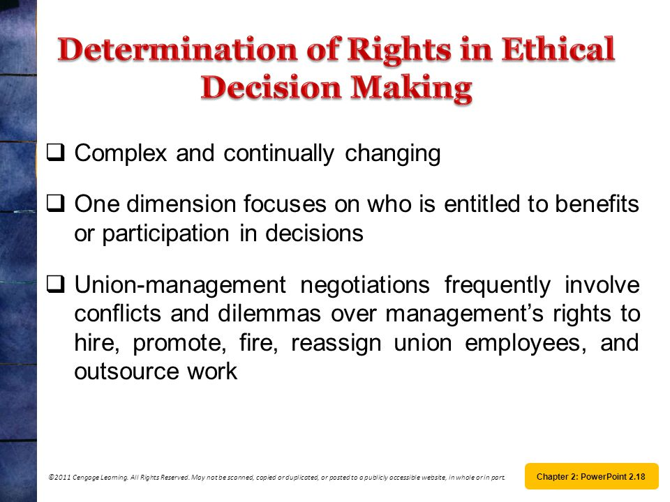 Determination of Rights in Ethical Decision Making