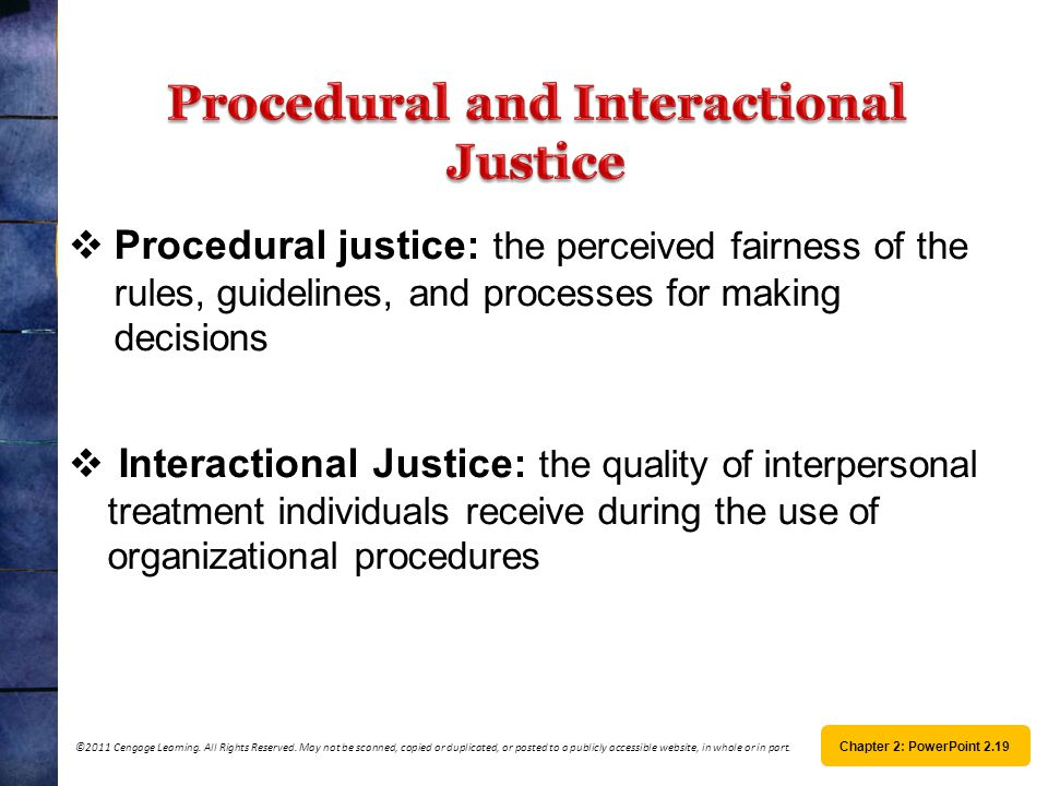 Procedural and Interactional Justice