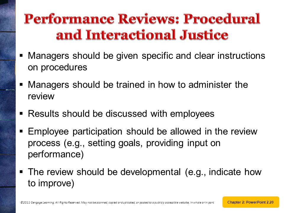 Performance Reviews: Procedural and Interactional Justice