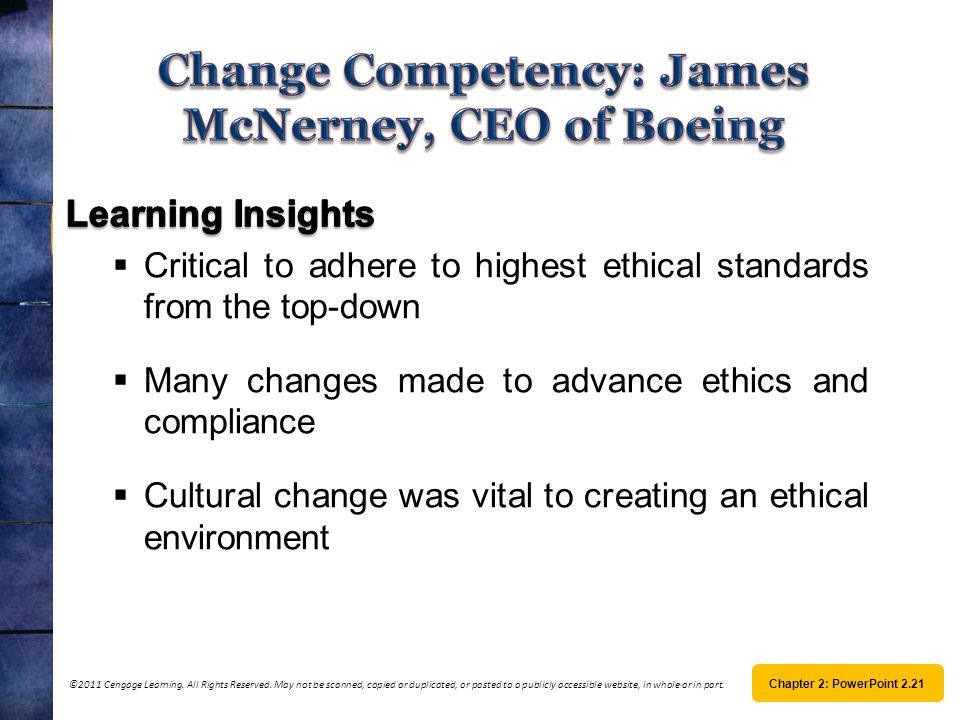 Change Competency: James McNerney, CEO of Boeing