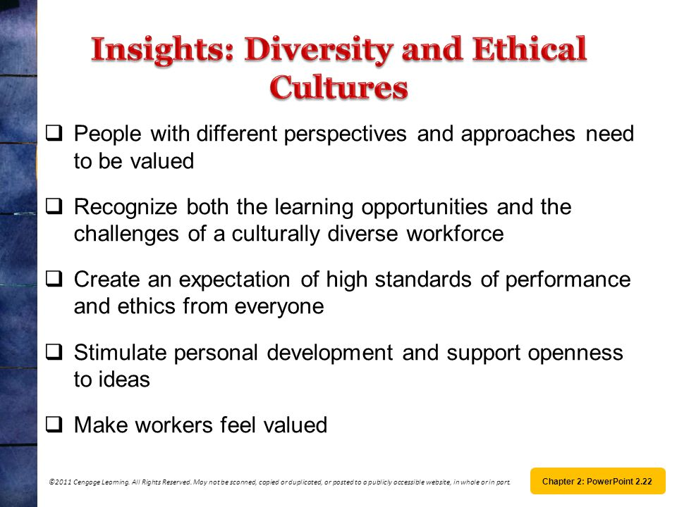 ethics politics and diversity Workplace ethics leads to a happy and satisfied employee lets discuss in detail the importance of workplace ethics for employees as well as the.