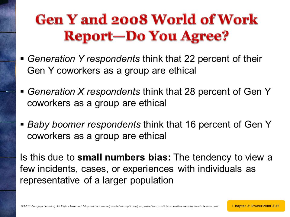 Gen Y and 2008 World of Work Report—Do You Agree