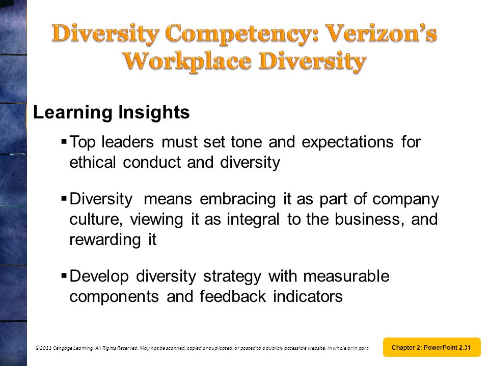 Diversity Competency: Verizon's Workplace Diversity