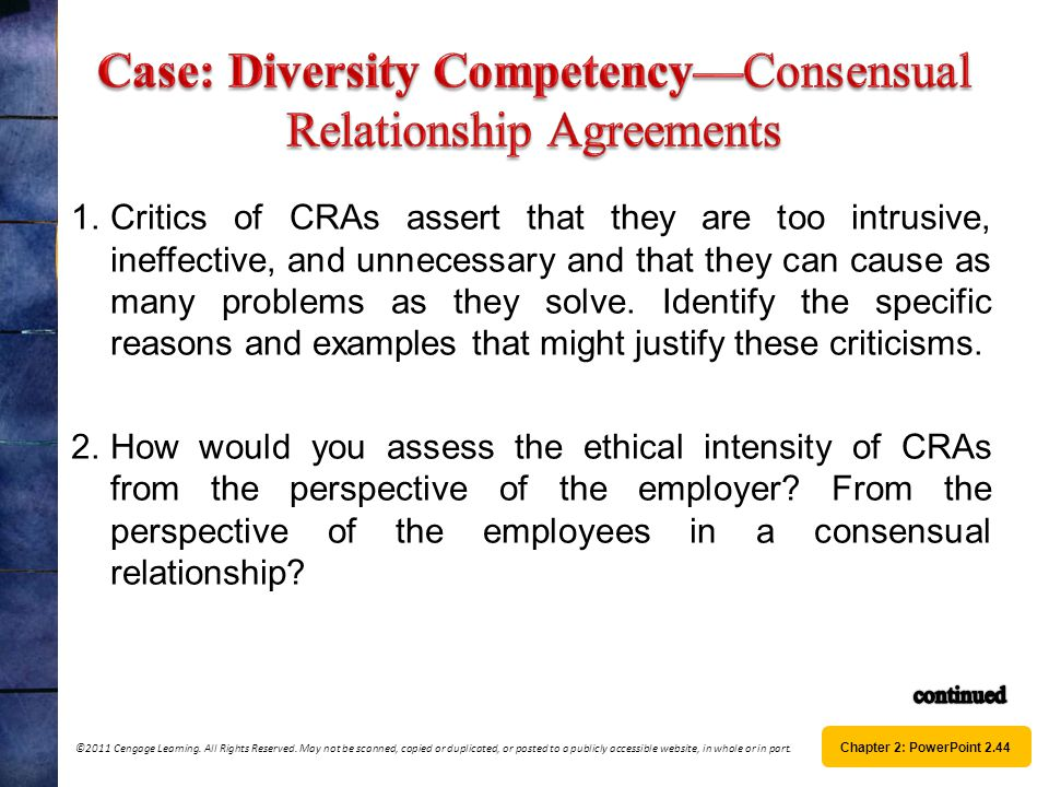 Case: Diversity Competency—Consensual Relationship Agreements