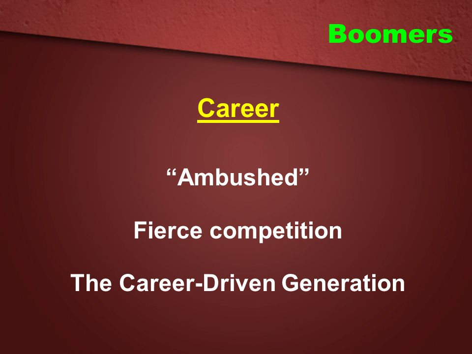 The Career-Driven Generation