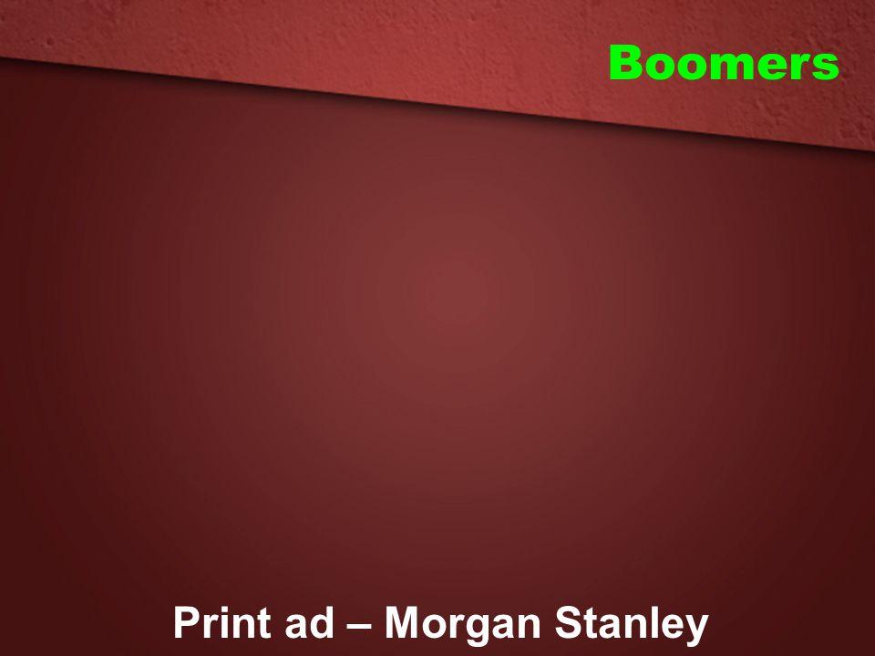 Print ad – Morgan Stanley