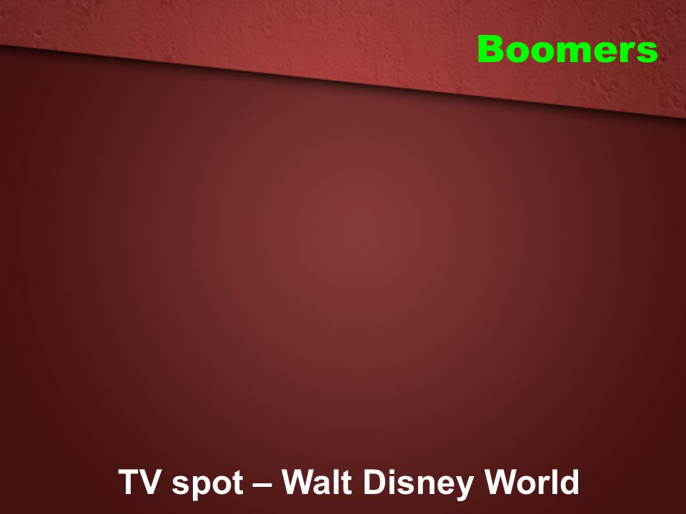 TV spot – Walt Disney World