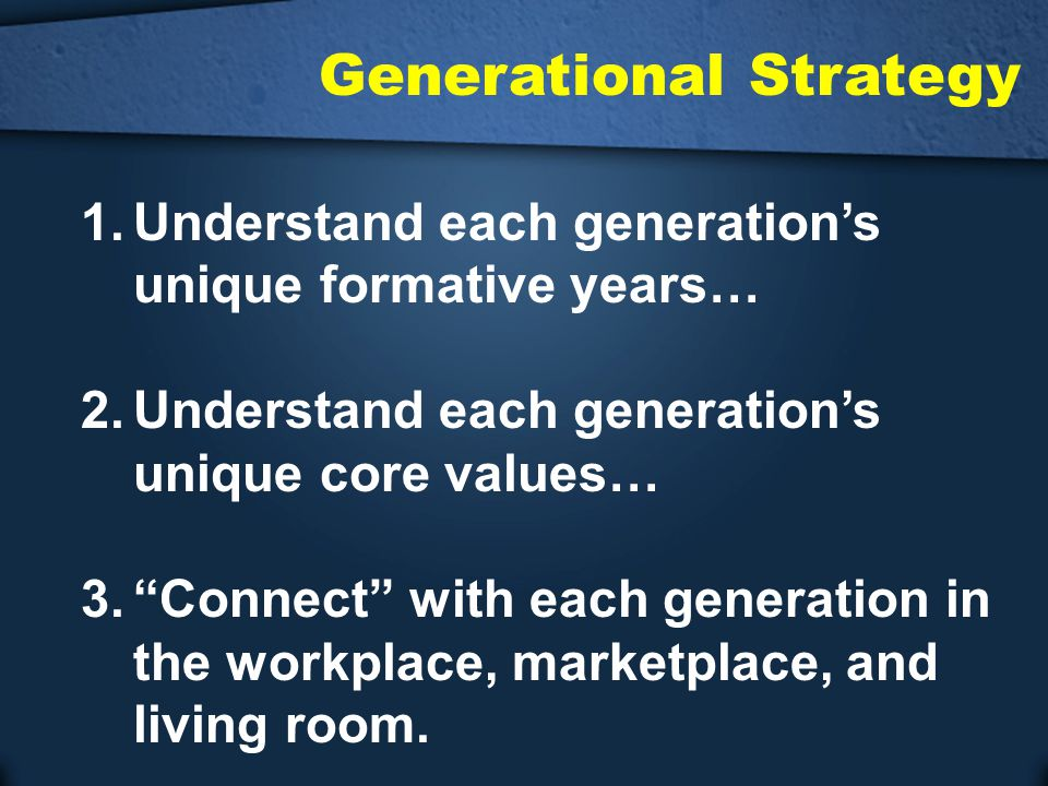 Generational Strategy