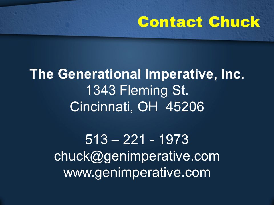 The Generational Imperative, Inc.