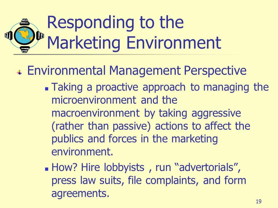 Responding to the Marketing Environment