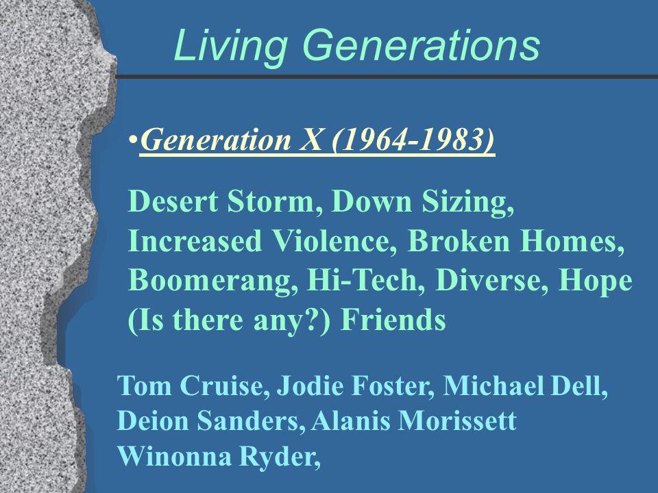 Living Generations Generation X (1964-1983)