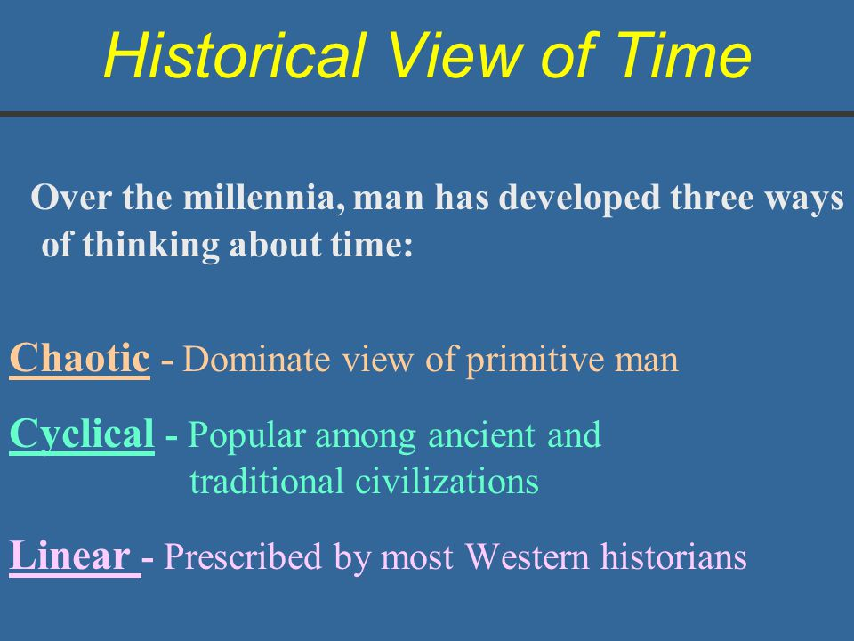 Historical View of Time