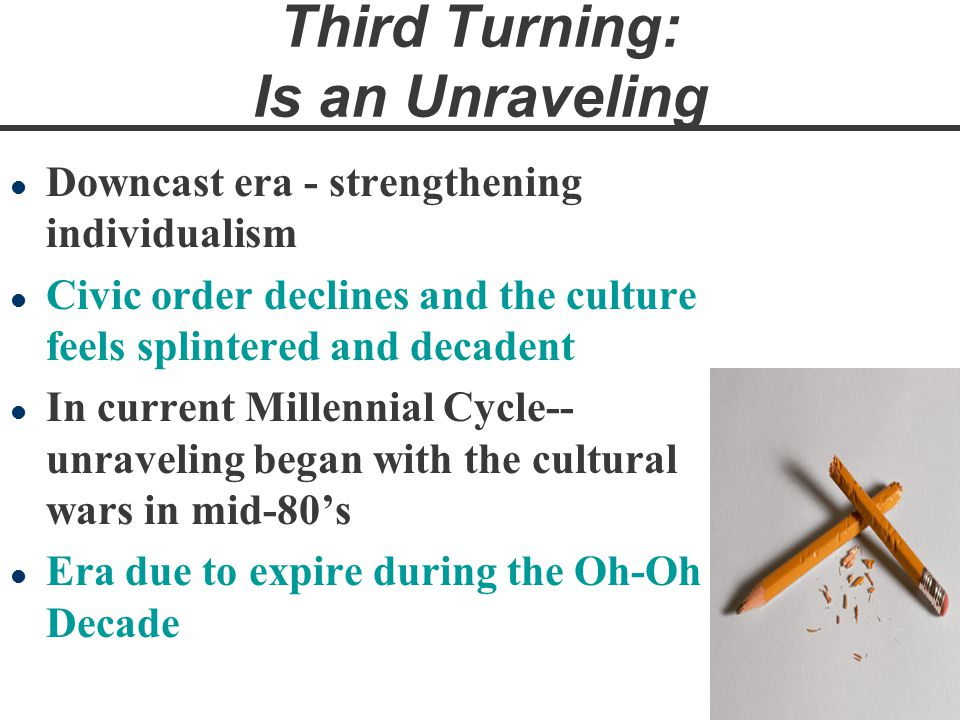Third Turning: Is an Unraveling