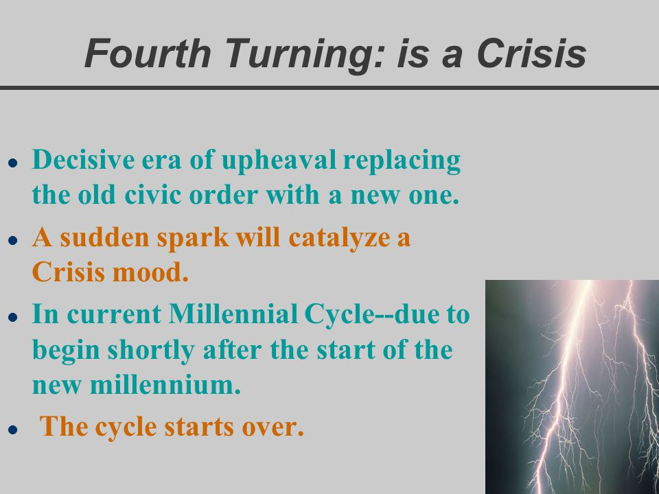 Fourth Turning: is a Crisis