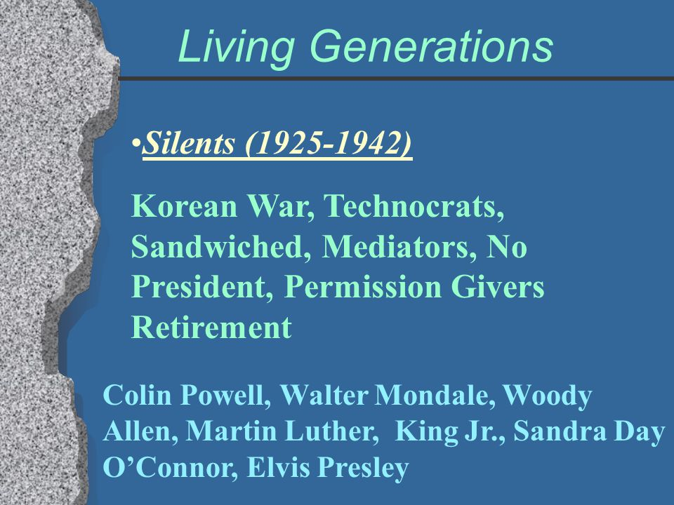 Living Generations Silents (1925-1942)