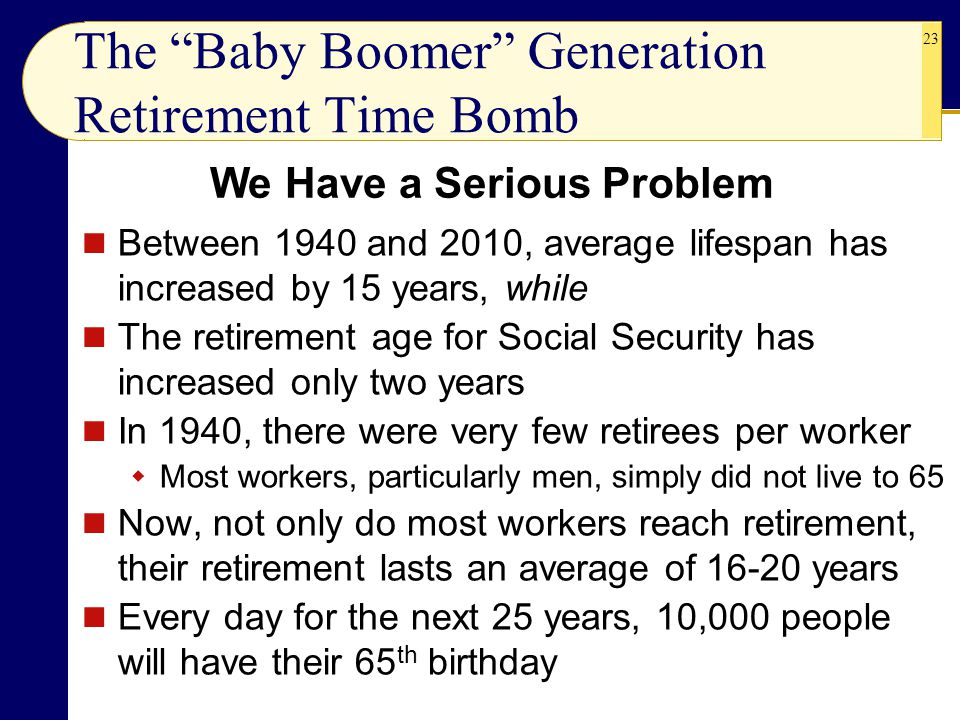 The Baby Boomer Generation Retirement Time Bomb