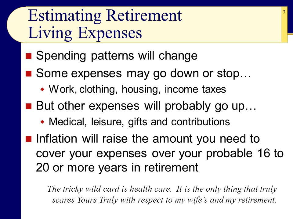 Estimating Retirement Living Expenses