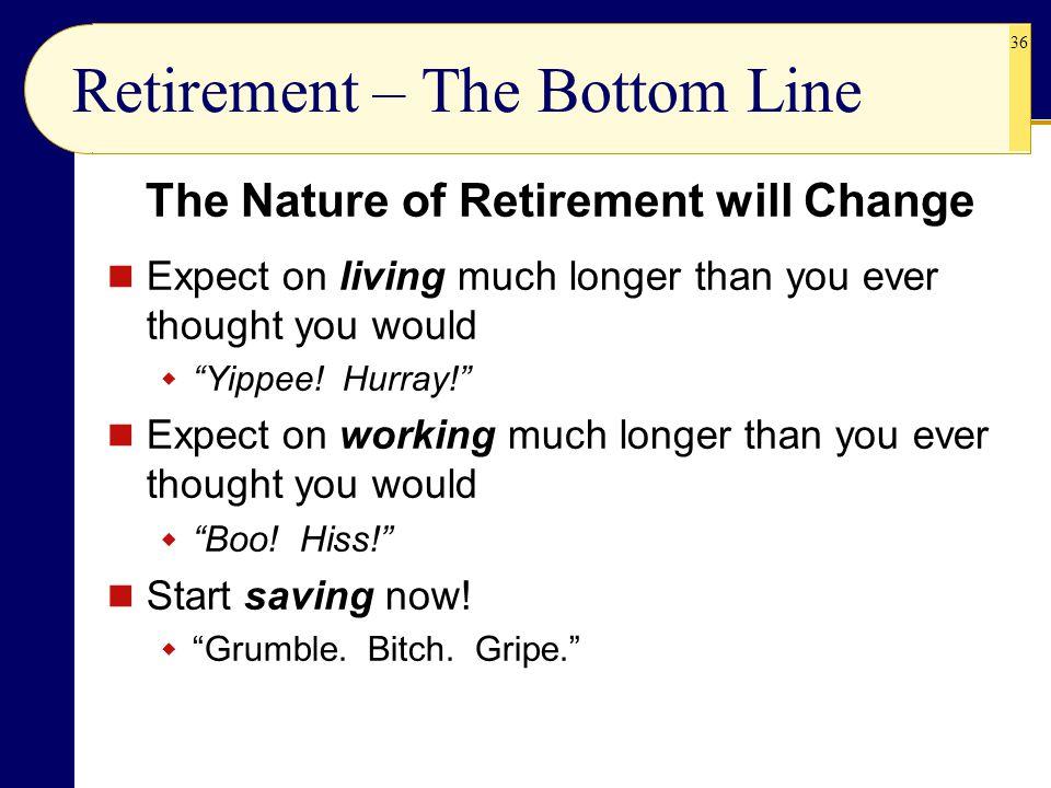 Retirement – The Bottom Line