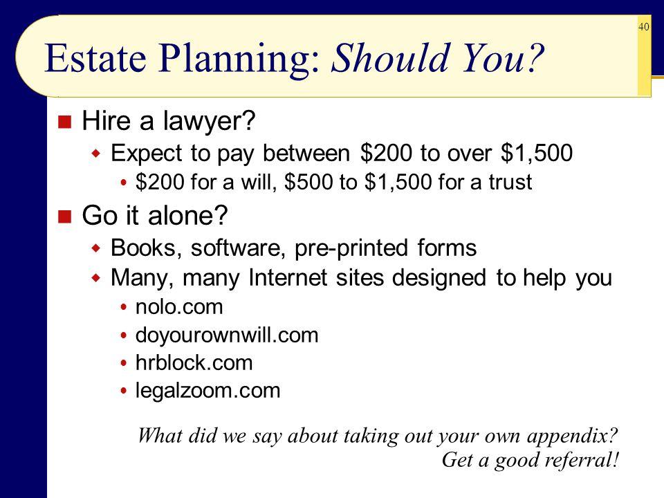Estate Planning: Should You