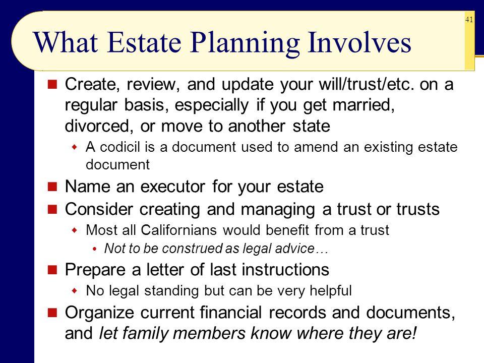 What Estate Planning Involves