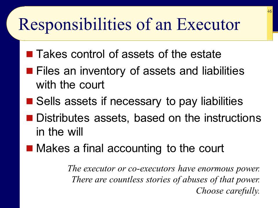 Responsibilities of an Executor