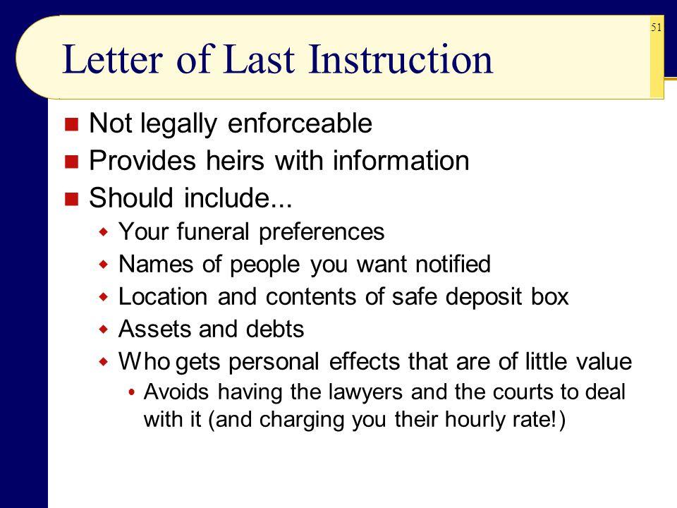 Letter of Last Instruction