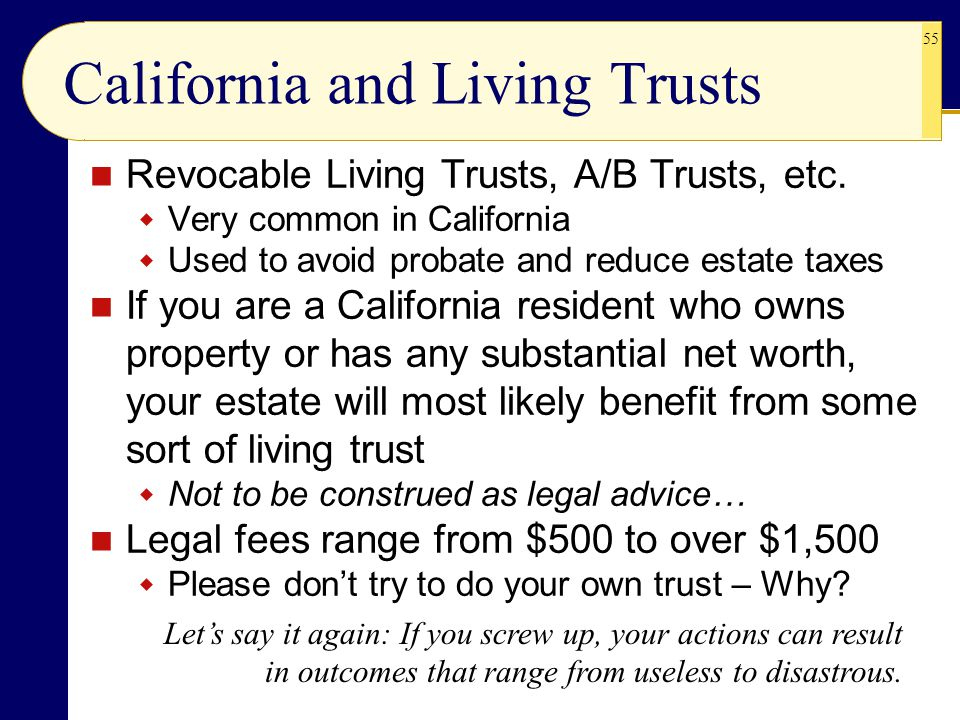 California and Living Trusts