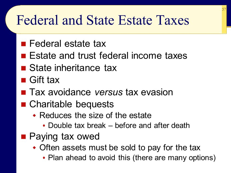 Federal and State Estate Taxes