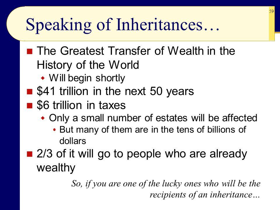 Speaking of Inheritances…