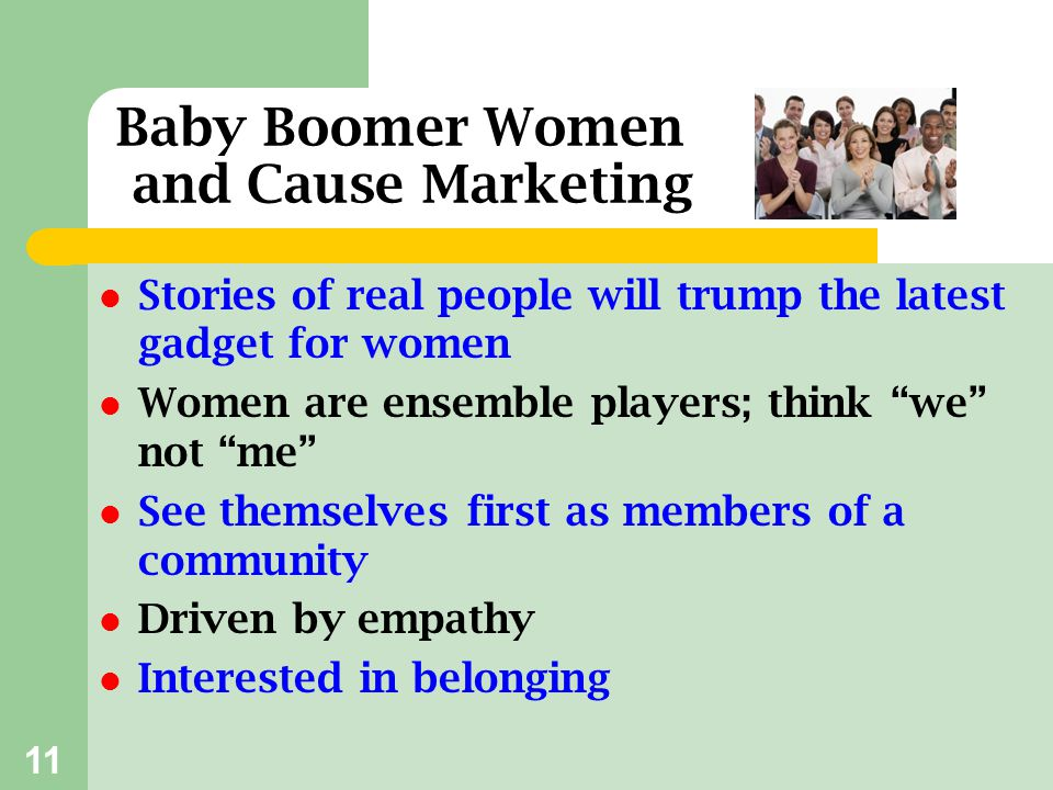 Baby Boomer Women and Cause Marketing