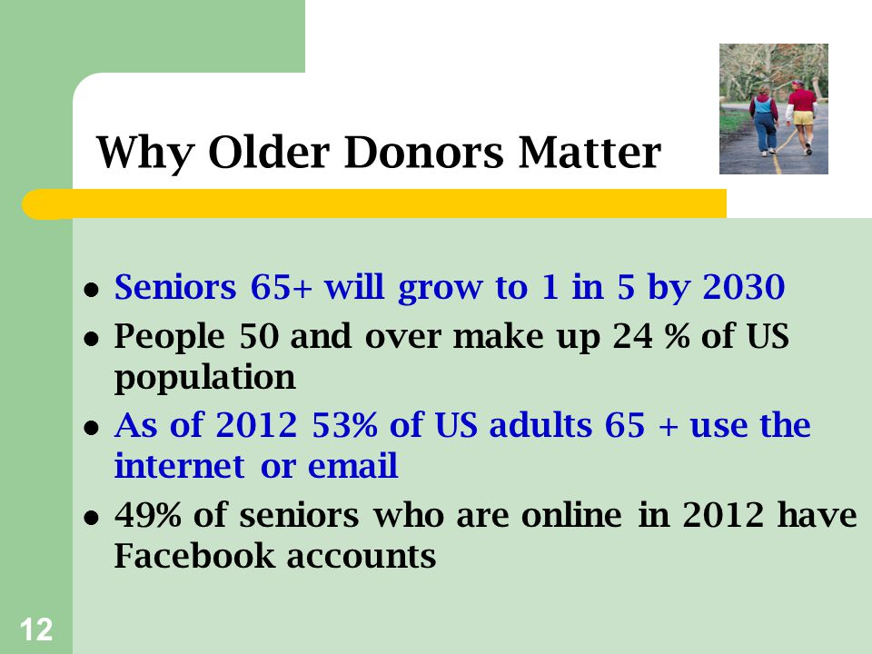 Why Older Donors Matter