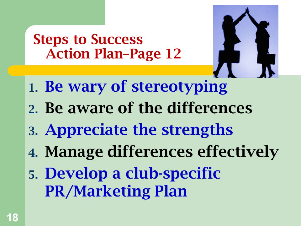 Steps to Success Action Plan–Page 12