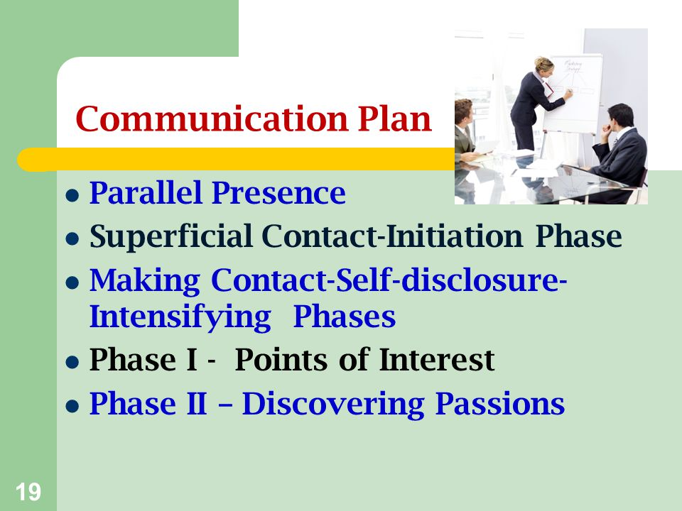 Communication Plan Parallel Presence