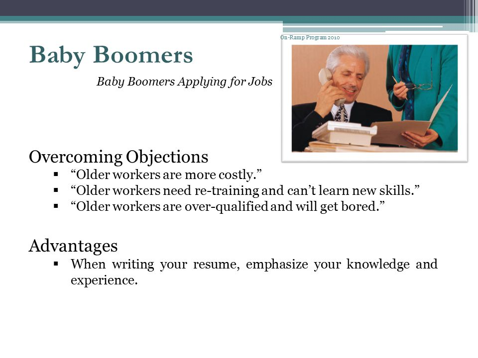Baby Boomers Overcoming Objections Advantages