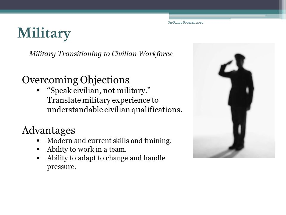 Military Overcoming Objections Advantages