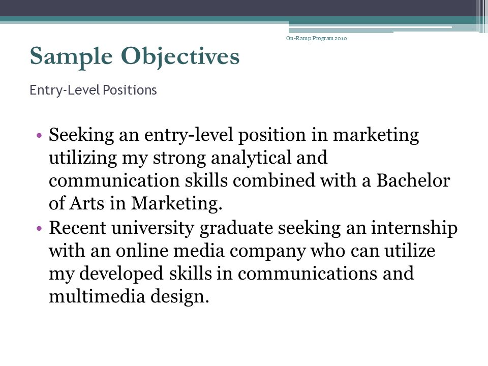 Entry-Level Positions