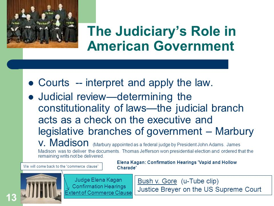 The Judiciary's Role in American Government