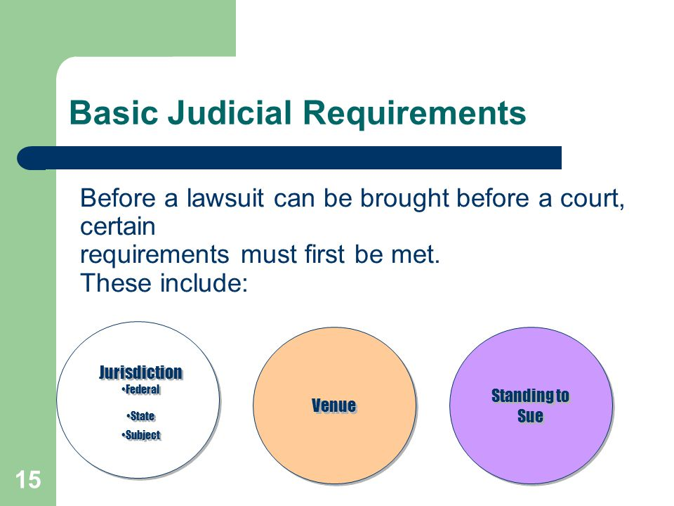 Basic Judicial Requirements