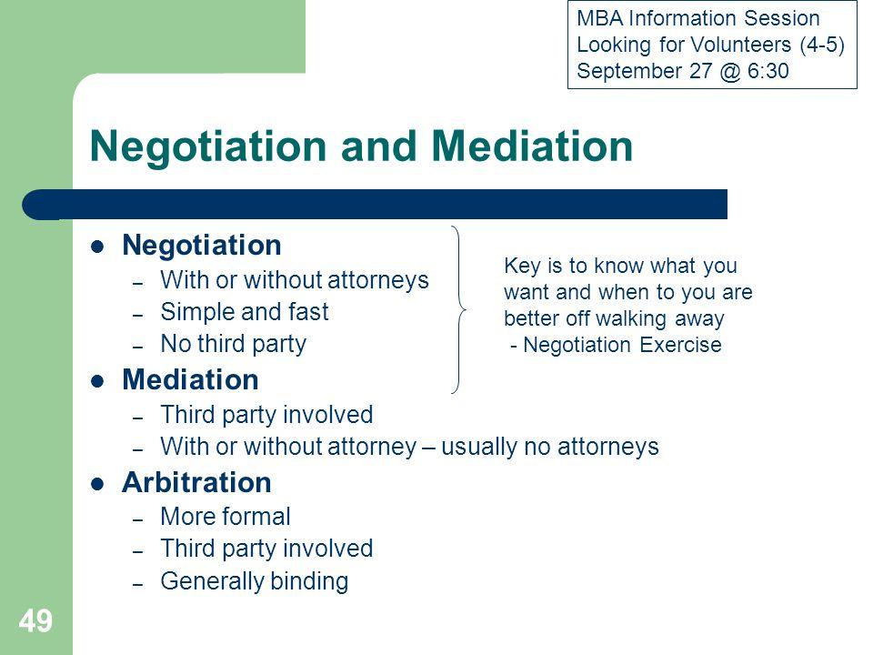 Negotiation and Mediation