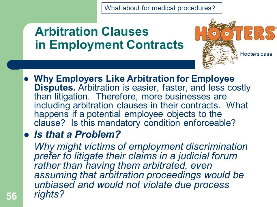 Arbitration Clauses in Employment Contracts