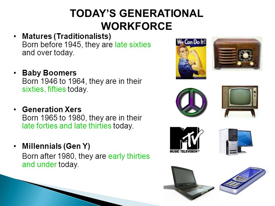 TODAY'S GENERATIONAL WORKFORCE