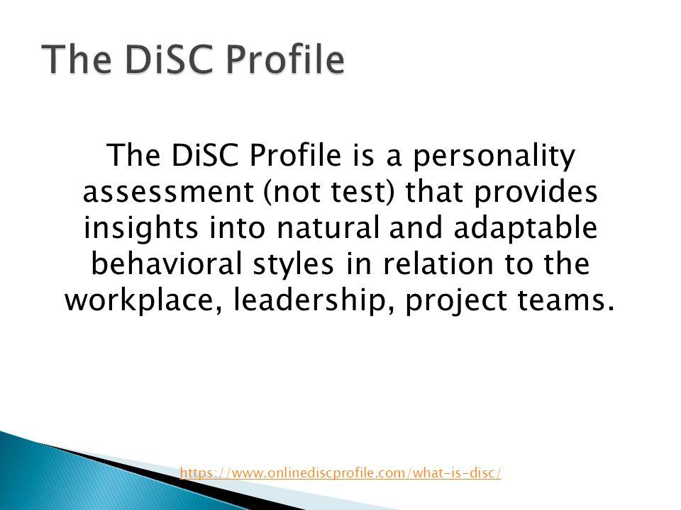 The DiSC Profile