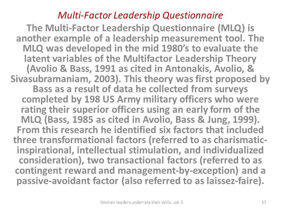 Multi-Factor Leadership Questionnaire