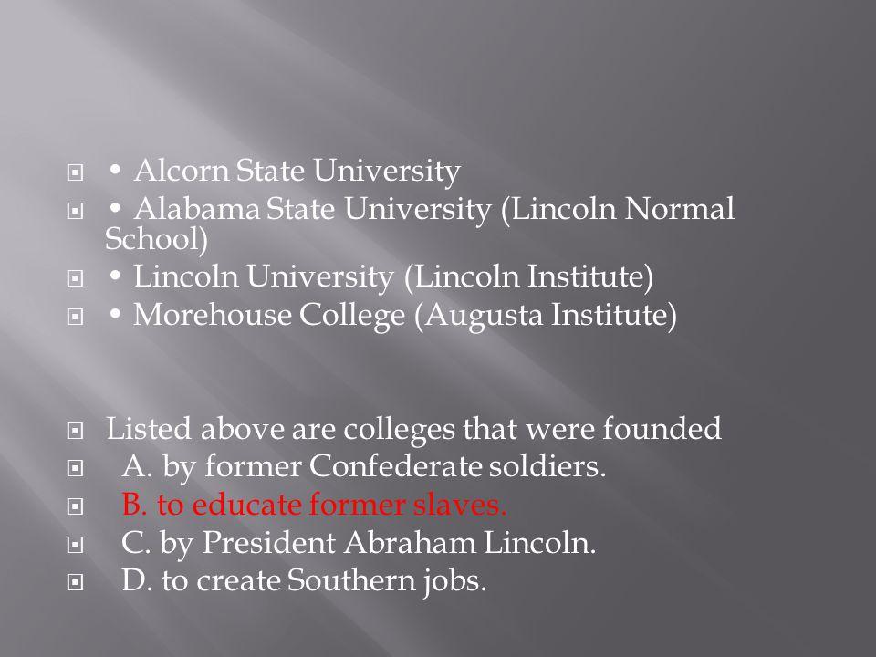• Alcorn State University